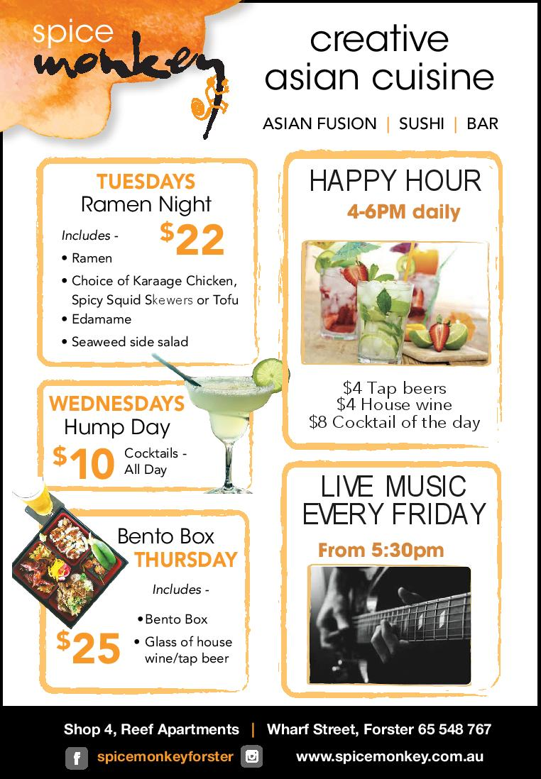 Lunch specials and promos