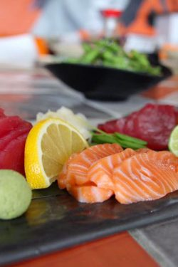 Salmon and Tuna sashimi